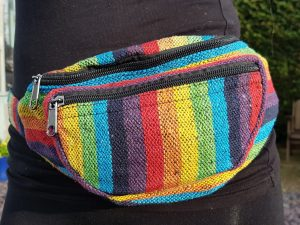 Stripe Rainbow Bumbag
