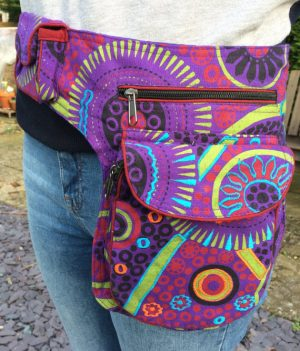 Spiral Pouch Bumbag Purple