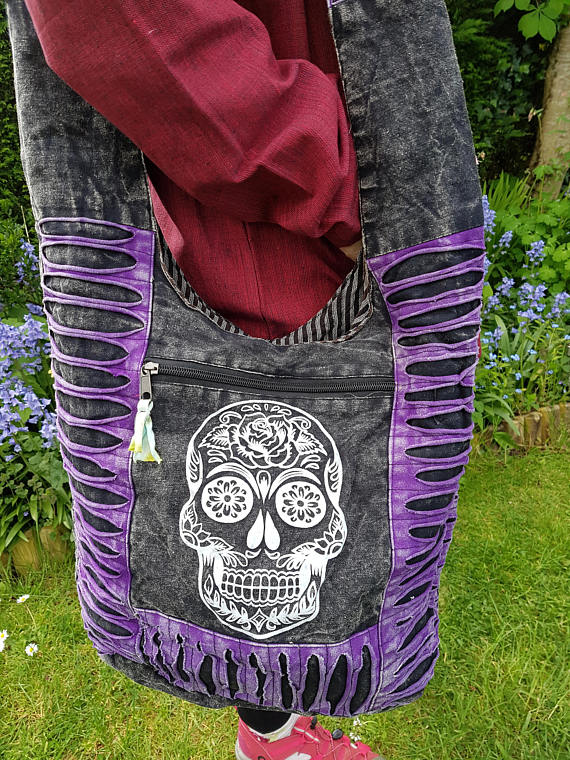 Sugar Skull Bag Purple