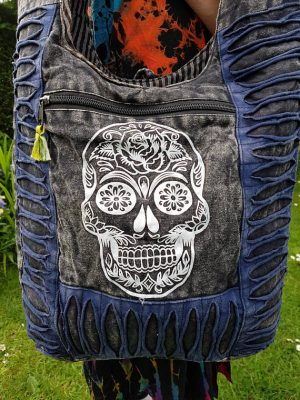 Sugar Skull Bag Blue