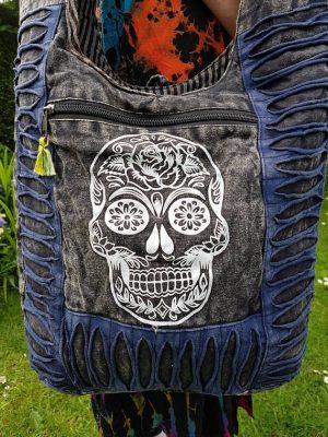 Sugar Skull Bag Blue