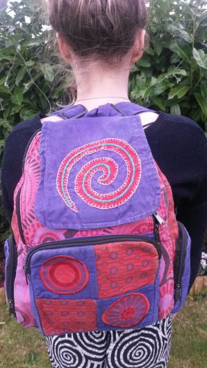 Spiral Backpack Pink