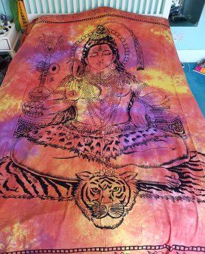 Shiva Throw Tie Dye Red