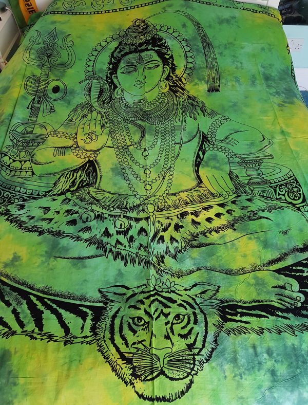 Shiva Throw Tie Dye Green