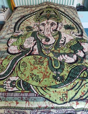 Ganesha Throw Green