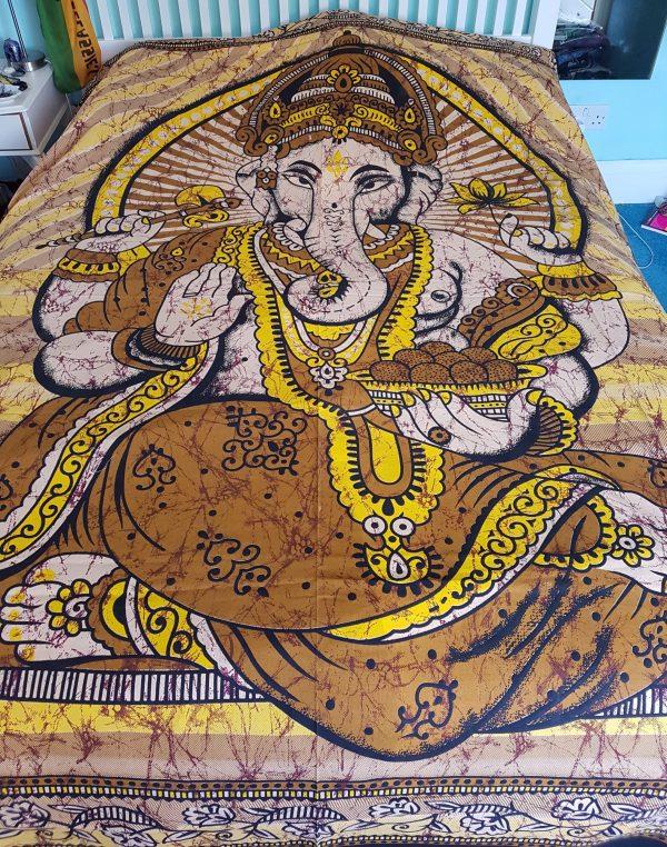 Ganesha Throw Brown