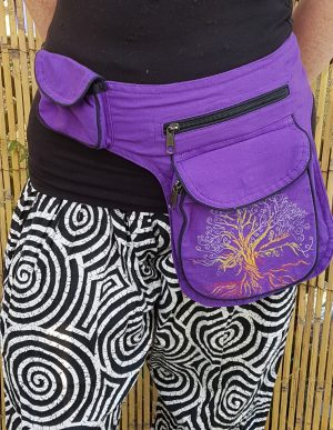 Tree of Life Bumbag Purple