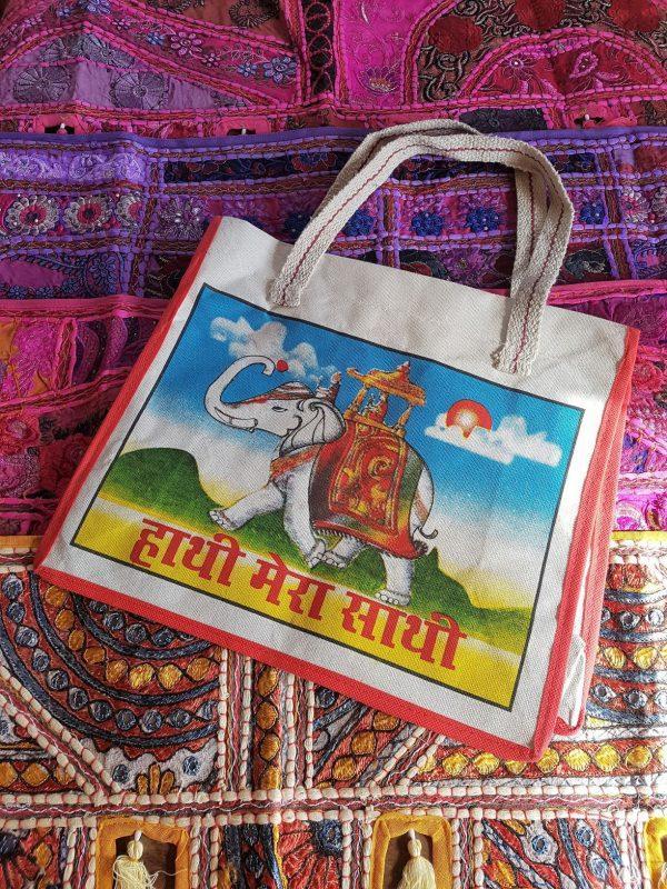 Indian Canvas Bag Elephant