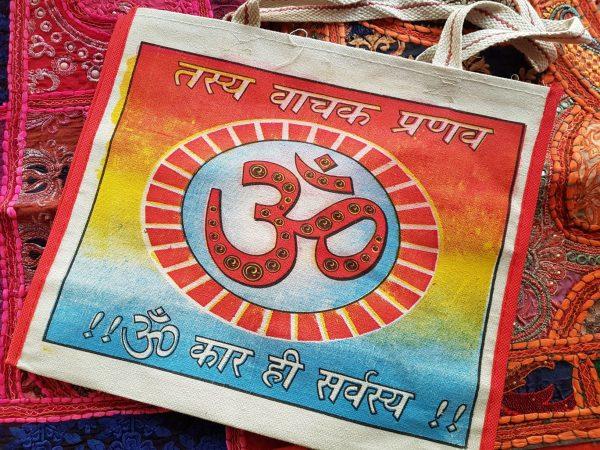 Indian Canvas Bag Om