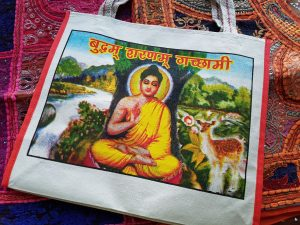 Indian Canvas Bag Buddha