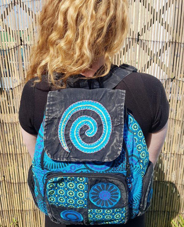 Spiral Backpack Blue