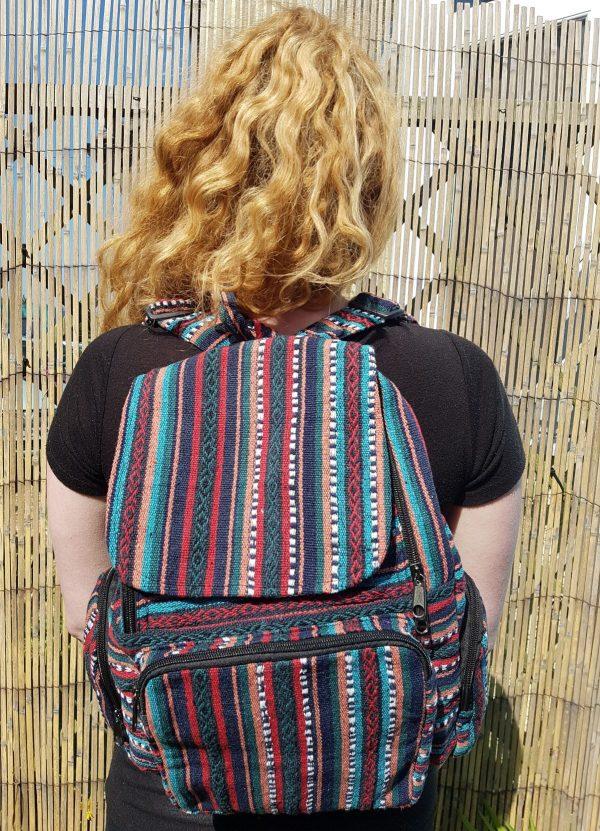 Stripe Multicolour Rucksack