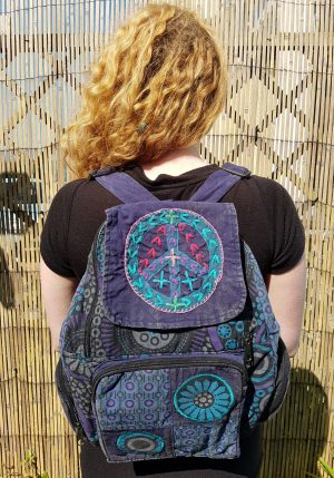 Peace Backpack Dark Blue