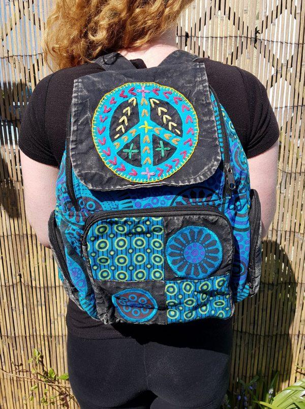 Peace Backpack Blue
