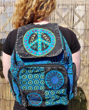 Peace Backpack Blue