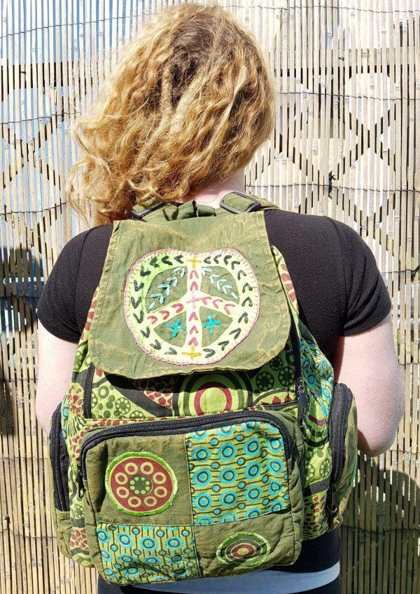 Peace Backpack Green