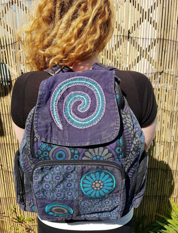 Spiral Backpack Dark Blue