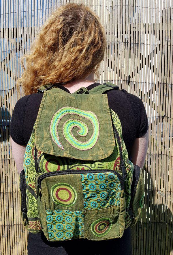 Spiral Backpack Green