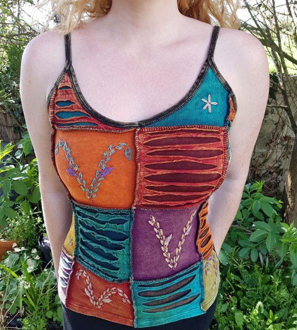 Stonewash Patchwork Vest