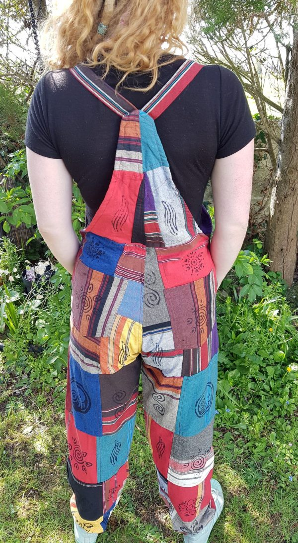 Patchwork Heavy Cotton Dungarees