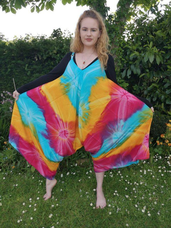 Tie Dye Butterfly Jumpsuit Rainbow