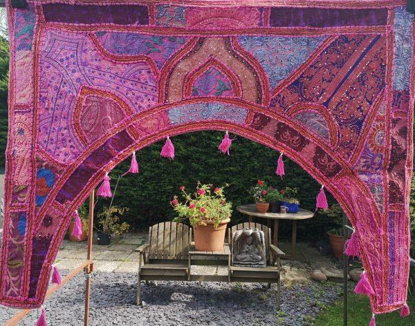 Embroidery Toran Pink