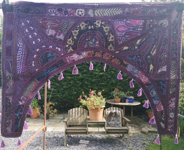 Embroidery Toran Purple