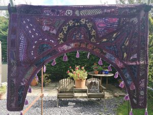 Embroidery Toran Purple