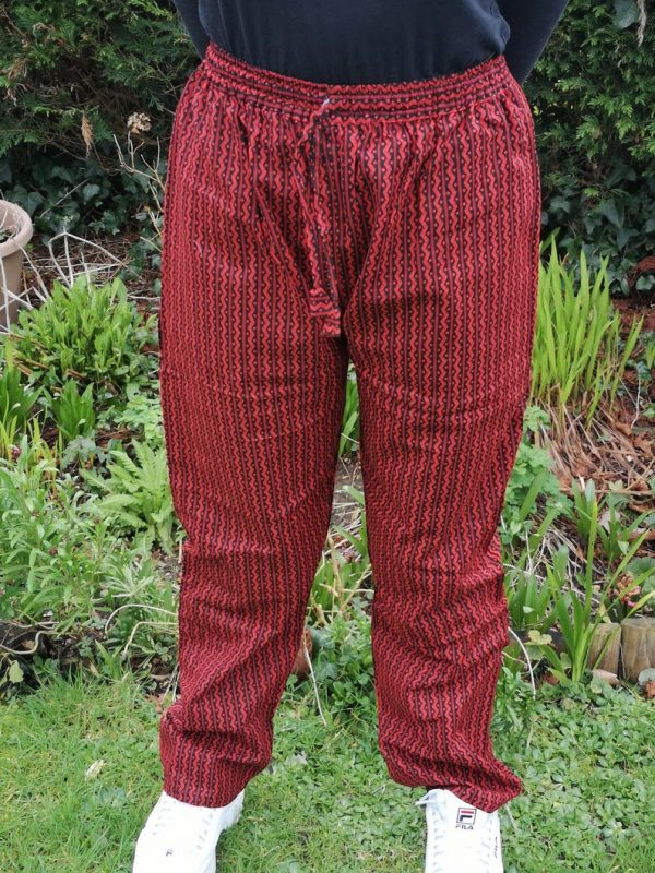 Aztec Trousers Red