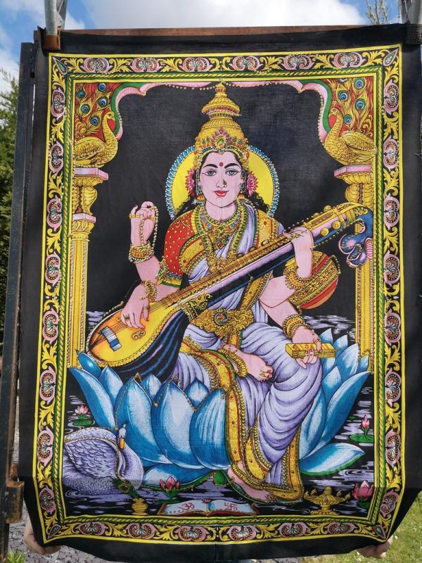 Sequin Saraswati Tapestry