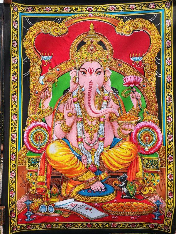 Sequin Ganesha Tapestry