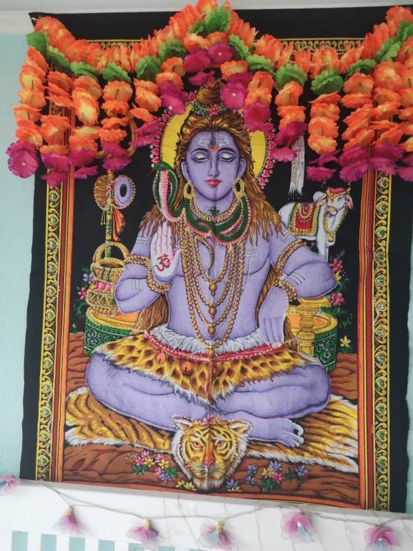 Sequin Shiva Tapestry