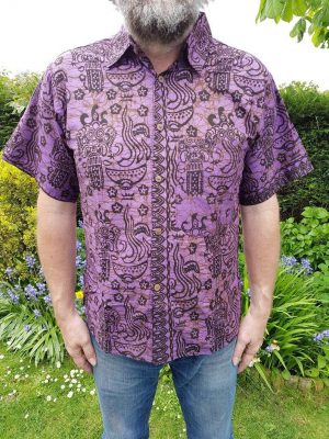 Batik Shirt Purple