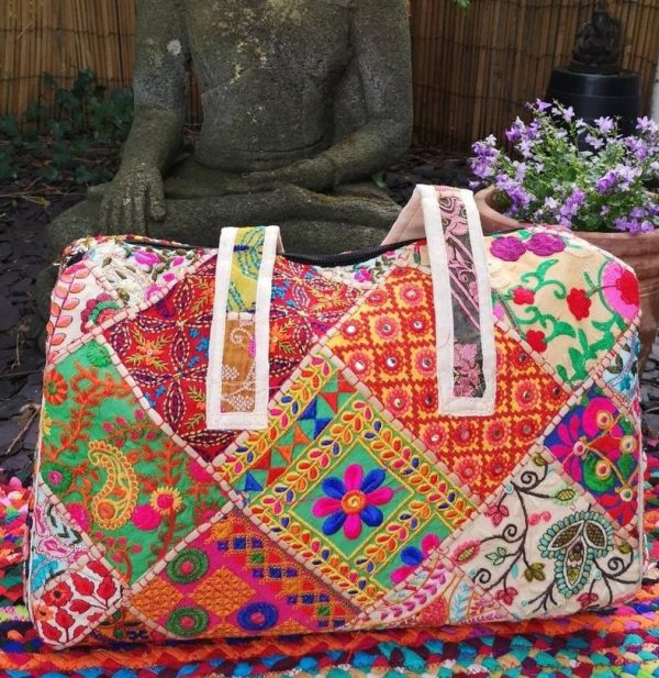 Embroidery Large Bag White