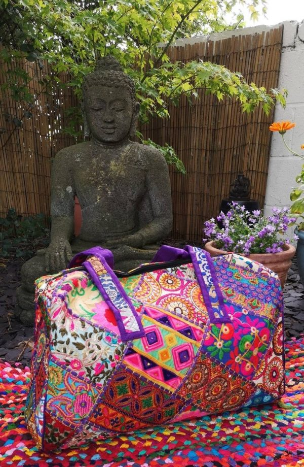 Embroidery Large Bag Purple