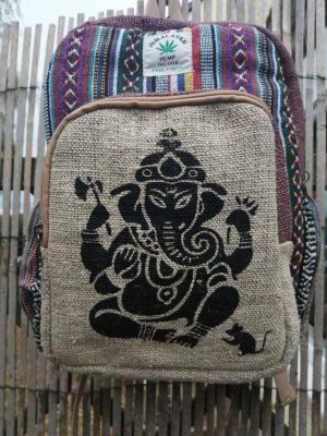 Hemp Backpack Ganesha