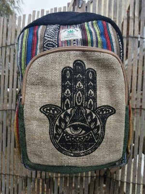 Hemp Backpack Hamsa Hand