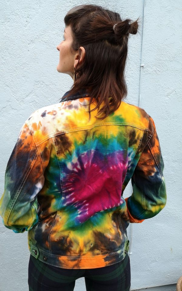 Tie Dye Denim Jacket - Authentic Company