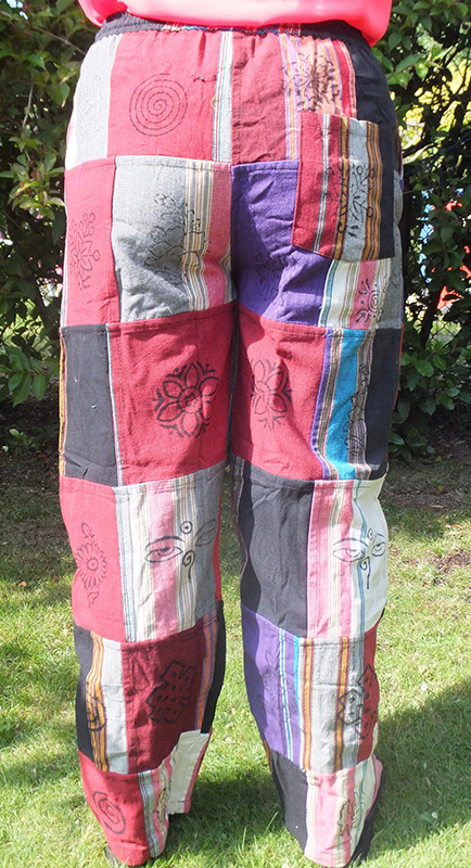Patchwork Heavy Cotton Trousers
