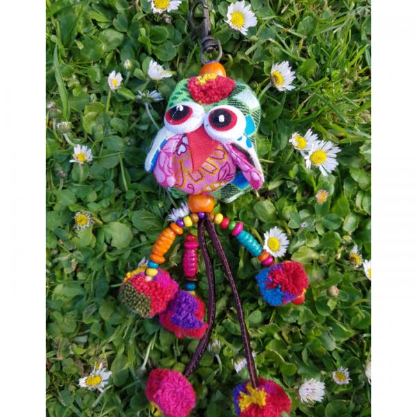 Keyring Owl Green