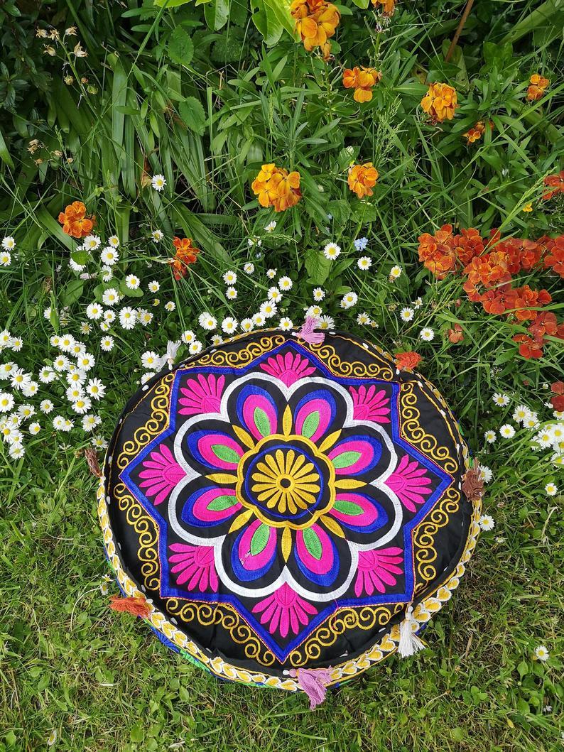Mandala Meditation Cushion Cover