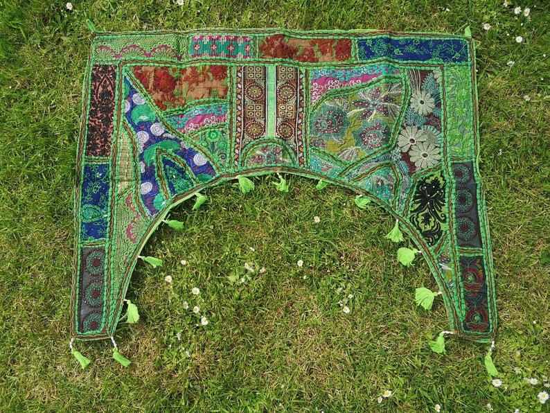 Small Embroidery Toran Green