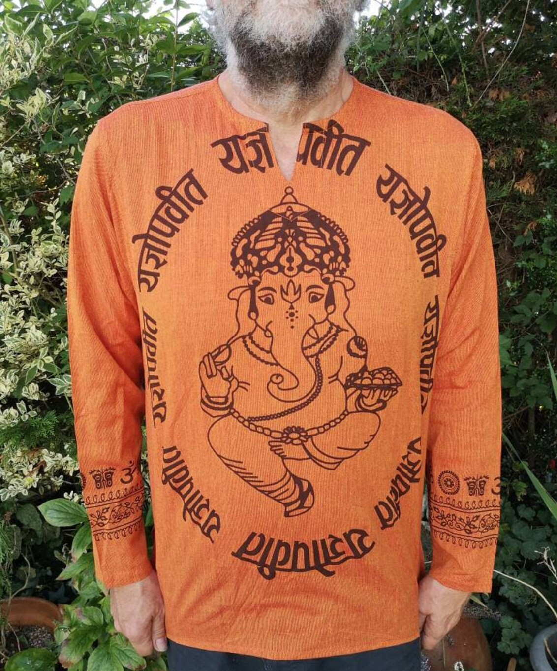 Ganesh Shirt Orange